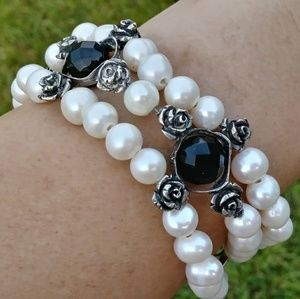 💝925 & Genuine Pearls Bracelet💝